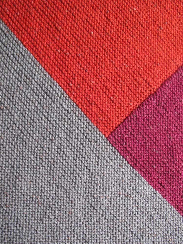 Tangram Knitting pattern blanket patricia cantos
